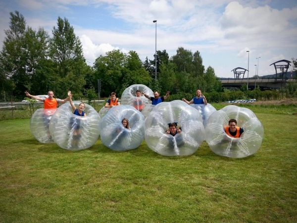 prague stag party body zorbing