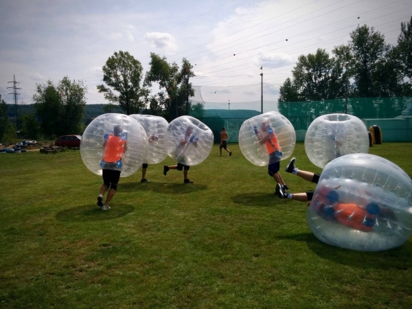 prague stag party weekend activity body zorb football