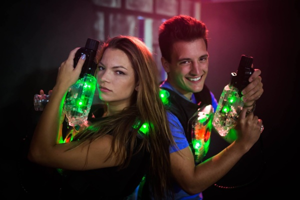 Prague stag weekend activity laser tag game group fun